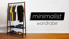 This is a pretty simple project that you can build with a pretty small amount of wood. A good project for practicing joinery and angles without risking a Wardrobe Storage, Closet Storage, Wardrobe Rack, Simple Wardrobe, Minimalist Wardrobe, Woodworking Projects Diy, Woodworking Videos, Entry Hallway, Bedroom Wardrobe