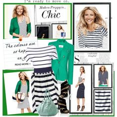 love the sailor stripes... and the green blazer gives it a more refreshing look...