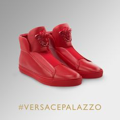 Idyllic casual chic #VersacePalazzo sneakers: on versace.com #Versace