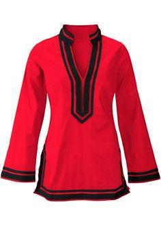 Veja agora:Incrível túnica manga longa com gola chinesa e fendas nas laterais. Comprimento de 72cm e aprox. 76cm a partir do tam.44. 100%algodão.