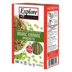 Organic Gluten-Free Pasta - Edamame Spaghetti - Pack of 6 Boxes Who knew classic spaghetti could be hand-crafted from Edamame! Indulge in this nutritious, Foods For Healthy Skin, Healthy Pasta Recipes, Healthy Pastas, Healthy Cooking, Gourmet Recipes, Healthy Eating, Yummy Recipes, Keto Recipes, Healthy Snacks