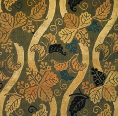 Title:立涌に桐文様唐織打敷 Paulownias on a winding stream pattern. Uchishiki alter cloth (originally a karaori robe) Date:慶長12年(1607)