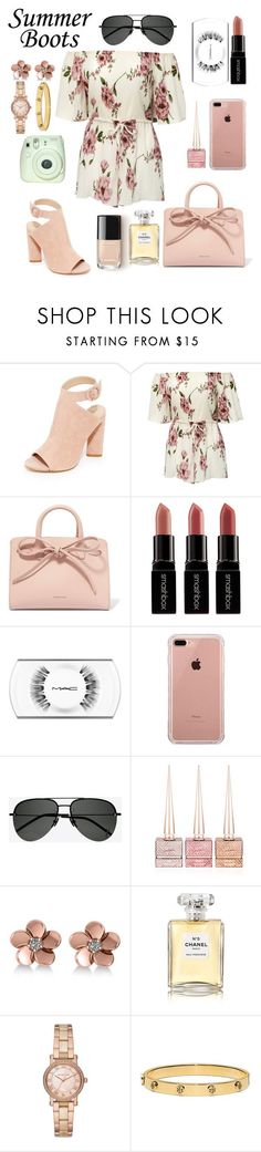 """""""Summer boots """" by fashionqueen119 ❤ liked on Polyvore featuring Kendall + Kylie, Mansur Gavriel, Smashbox, MAC Cosmetics, Belkin, Yves Saint Laurent, Christian Louboutin, Allurez, Chanel and Michael Kors"""