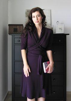 3/4 Sleeve Dress Cowl Dress Autumn Dress A Line Dress door Lirola