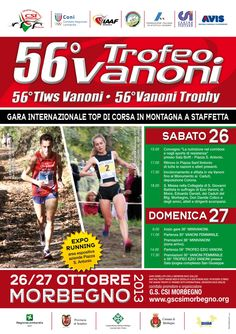 27 ottobre 2013 - 56° edizione del #Trofeo Ezio Vanoni a #Morbegno
