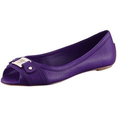 Los Angeles Lakers Women's Open-Toe Ballet Flats - Purple ($38) ❤ liked on Polyvore featuring shoes, flats, purple, ballerina shoes, ballet flats, ballet flat shoes, ballet shoes ve open toe ballet flats