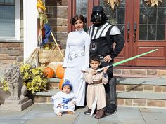 The force was strong with Snooki and her family. And they look pretty adorable, too, with Snooki as Princess Leia, Jionni as Darth Vader, Lorenzo as Luke Skywalker, and Giovanna as a sweet R2-D2. (Getty Images)