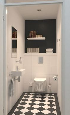 Transforming Small Bathrooms In Just 6 Easy Steps Afbeeldingsresultaat voor modern toilet design met grijze tegel Toilet Location In Bathroom Bathroom Floor Tiles, Small Toilet Room, Modern Toilet, Bathroom Styling, Small Toilet, Elegant Bathroom, Small Bathroom, Bathroom Design, Bathroom Decor