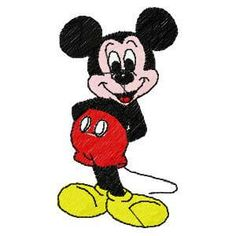 Mickey Mouse-embroidery design