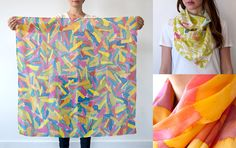 hand-painted silk scarves from Little Things Studio