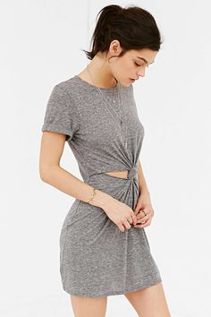 Honey Punch Knot-Front Tee Dress - Urban Outfitters