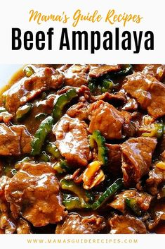 This Beef Ampalaya or a. Ampalaya con karne recipe is healthy and not so bitter in taste. What is the secret in cooking ampalaya Filipino Vegetable Recipes, Filipino Recipes, Mexican Food Recipes, Beef Recipes, Soup Recipes, Cooking Recipes, Filipino Food, Filipino Dishes, Pinoy Food
