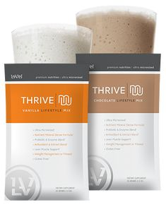 Thrive Chocolate Lifestyle Mix is NOW available for Le-Vel Customers and Promoters! Get yours today!!