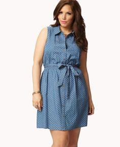 Endless Summer Polka Dot Shirt Dress | FOREVER21 PLUS - 2023958464
