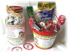 You've Been ELF'ED Christmas Labelsround tags and by NCPrintables, $5.00