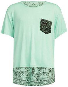 FULL TILT Ethnic Print Girls Pocket Tee // TILLY'S