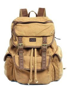 Canvas Rucksack Backpack for School & Outdoor