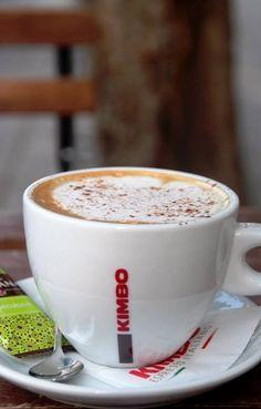 Kimbo cappuccino.