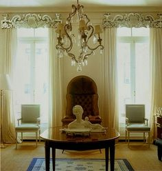 There are insufficient Venetian Glass Pelmets in my life. Probably too big for my windows anyway. Venetian Glass, Venetian Mirrors, Window Coverings, Window Treatments, Glass Curtain, Pelmets, Beautiful Curtains, Drapes Curtains, Valances