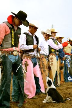 TOUGH ENOUGH TO WEAR PINK! Love when the cowboys wear pink at NFR!!!! :) Bless them for their support