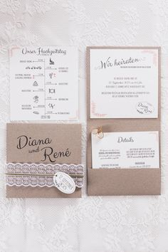 Individuell schöne Hochzeitspapeterie von Traufabrik Papeterie | Hochzeitsblog - The Little Wedding Corner