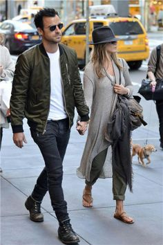 Justin Theroux and Jennifer Anniston...
