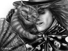 Mad Hatter and Cheshire Cat by *SvPolarFox