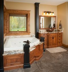Rustic Log Home - rustic - Bathroom - Other Metro - Mullet Cabinet
