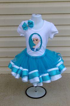 Frozen Elsa Tutu dress Setfrozen tutu by LittleMissRileys on Etsy, $55.00