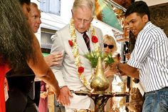 """The Prince of Wales began his pensionable years today with a rose, a cake and a rueful admission that he was feeling """"much older"""". Being the Prince of Wales, of course — the man whose wife says he never stops — his 65th birthday was also a full day's work, with a packed schedule of engagements in India before he and the Duchess flew on to Sri Lanka for the Commonwealth Heads of Government Meeting."""