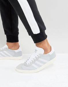 classic fit a900f b6f2c adidas Originals Gazelle Prime Knit Sneakers In Gray BB2751 Leather Sneakers,  Leather Men, Leather