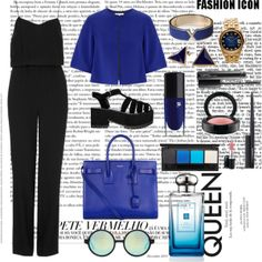 """""""Blue and Black"""" by niallpizzalina on Polyvore"""