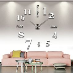 Amazon.com - YESURPRISE Modern 3D Frameless Large Wall Clock Style Watches Hours DIY Room Home Decorations Model MAX3 #6 -