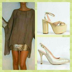 Oro zapatos noche Micheluzzi Stuart Weitzman, Peep Toe, Sandals, Heels, Fashion, Night, Gold, Zapatos, Heel