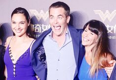 Gal Gadot, Patty Jenkins and Chris Pine at the premiere of «Wonder Woman» in Shanghai