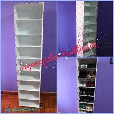 Tutoriales mueble de cart n rinconera como el mueble de yuya yuyacst reciclaje de for Zapateras para closet