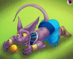 Beerus-sama. (He's so cute!) Here Kitty Kitty Destruction God by phoenixbat on DeviantArt