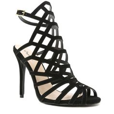 35ae58402fe9e0 Be the center of attention in this stunning perfect caged sandal. This shoe  features a nubuck leatherette upper