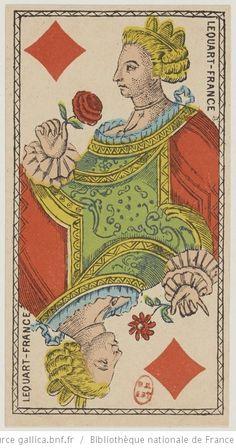 [Jeu de tarot à enseignes de fantaisie au portrait à deux têtes et à décor de monstres marins et de personnages chinois] : [jeu de cartes, estampe] Éditeur : Lequart (Paris) Date d'édition : 1880 Sujet : Tarot (jeu) Type : image fixe,estampe Langue :zxx Format : 78 cartes à jouer : gravure à l'eau-forte coloriée au pochoir ; 10,3 x 5,5 cm Format : image/jpeg Droits : domaine public Identifiant : ark:/12148/btv1b10510161n