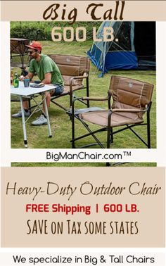 Big Outdoor Chairs   Outdoor Furniture   BIg Man Chair Patio Chairs, Outdoor Chairs, Outdoor Furniture Sets, Outdoor Decor, Furniture Chairs, Outdoor Spaces, Manly Living Room, Camping Chair, Outdoor Camping
