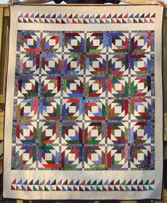 PINEAPPLE BLOSSOM QUILT PATTERN.  I like the two-sided border