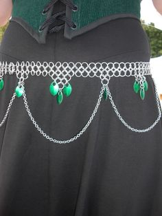 chainmail belt. Just found the skirt for this at a thrift store.