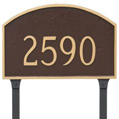Montague Metal Products Prestige One Line Address Plaque Finish: Brick Red/Silver