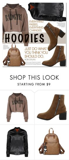 """Bad girl hoodie"" by puljarevic ❤ liked on Polyvore featuring Hard Graft and Hoodies"