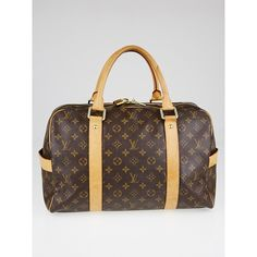 Pre-owned Louis Vuitton Monogram Canvas Carryall Bag (1,300 CAD) ❤ liked on Polyvore featuring bags and luggage