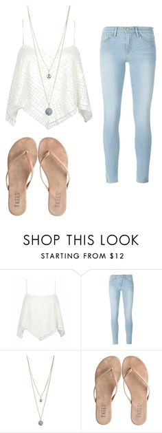 """""""Sand"""" by joannaroseb ❤ liked on Polyvore featuring Frame Denim, Dorothy Perkins and T KEES"""
