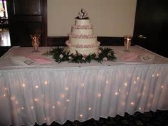 symmetrical  Alluring Wedding Cake Tables