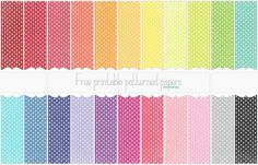 Spritzed & Stamped Polkadotted Line free printable digital paper PREVIEW by melstampz, via Flickr