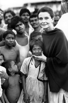 """Yes, real humanitarian Audrey Hepburn. """"Taking care of children has nothing to do with politics. I think perhaps with time, instead of there being a politicisation of humanitarian aid, there will be a humanisation of politics."""" - Audrey Hepburn"""