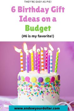 Wow, this is a great list of birthday gift ideas for my friends now that I'm on a budget and staying on it!